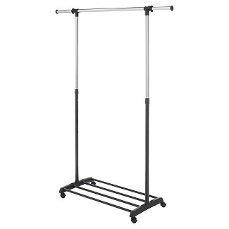 Whitmor Deluxe Adjustable Garment Rack - Black
