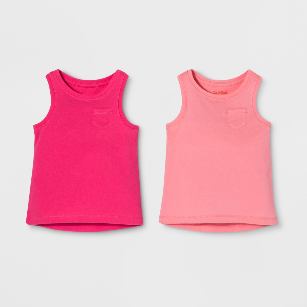 Toddler Girls' 2pk Sleeveless T-Shirt Set - Cat & Jack Pink 4T
