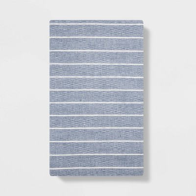 Striped Flat Weave Kitchen Towel Blue - Project 62™