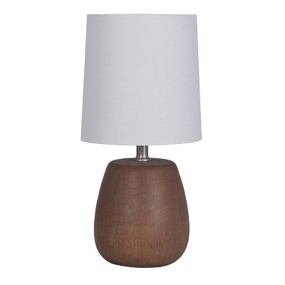 Polyresin Wood Accent Lamp Walnut - Threshold™
