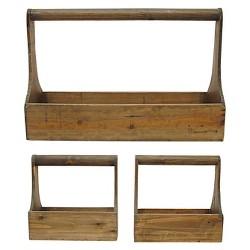 Wood Planter Baskets (S/3)