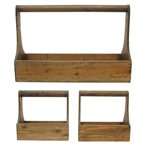 Wood Planter Baskets (S/3) - image 1 of 1