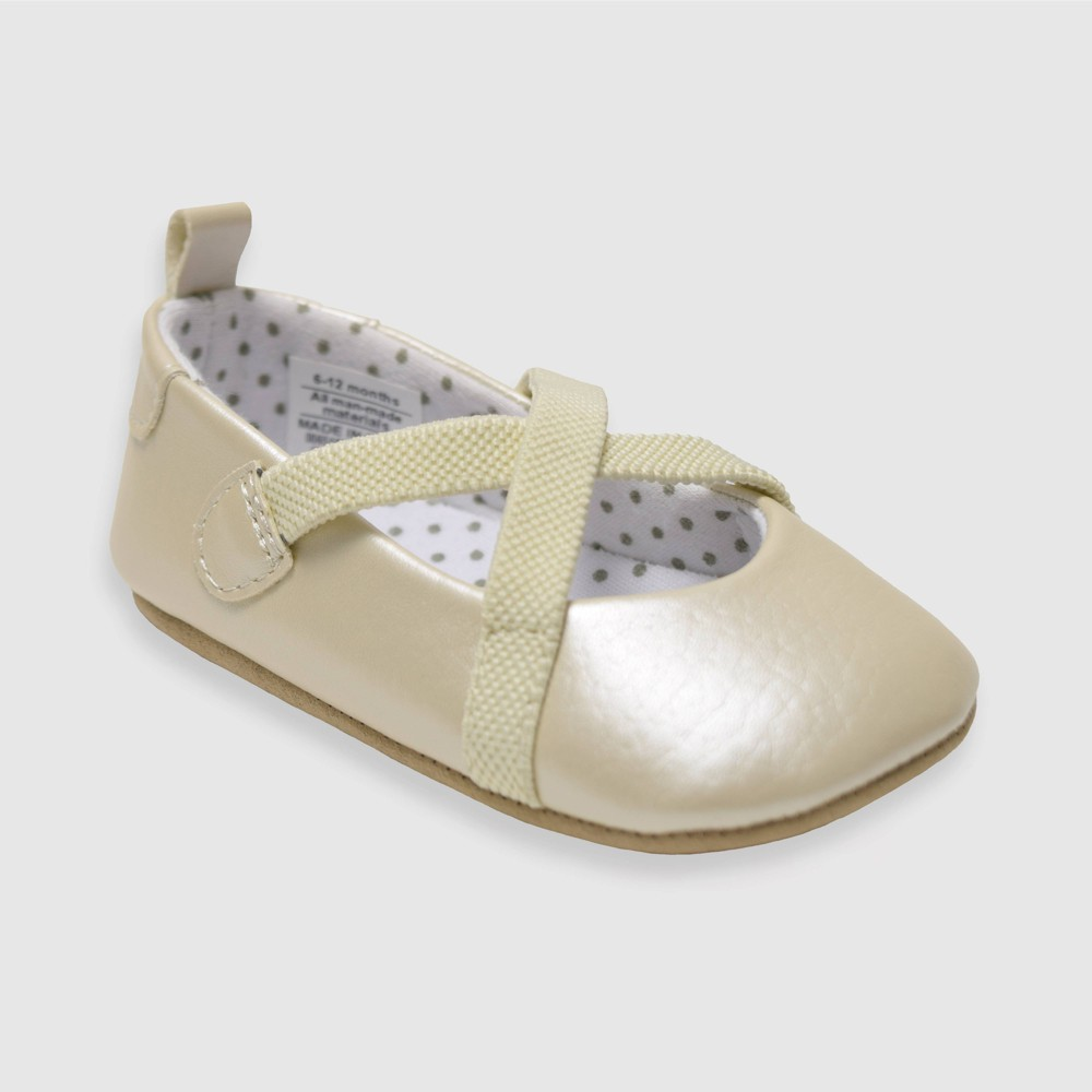 Image of Baby Girls' Ro+Me by Robeez Caroline Shoes - Pink 12-18M, Toddler Girl's, Silver
