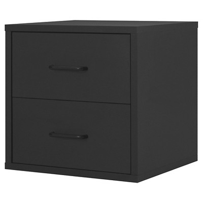 2 Drawer Cube Black 15  - Foremost