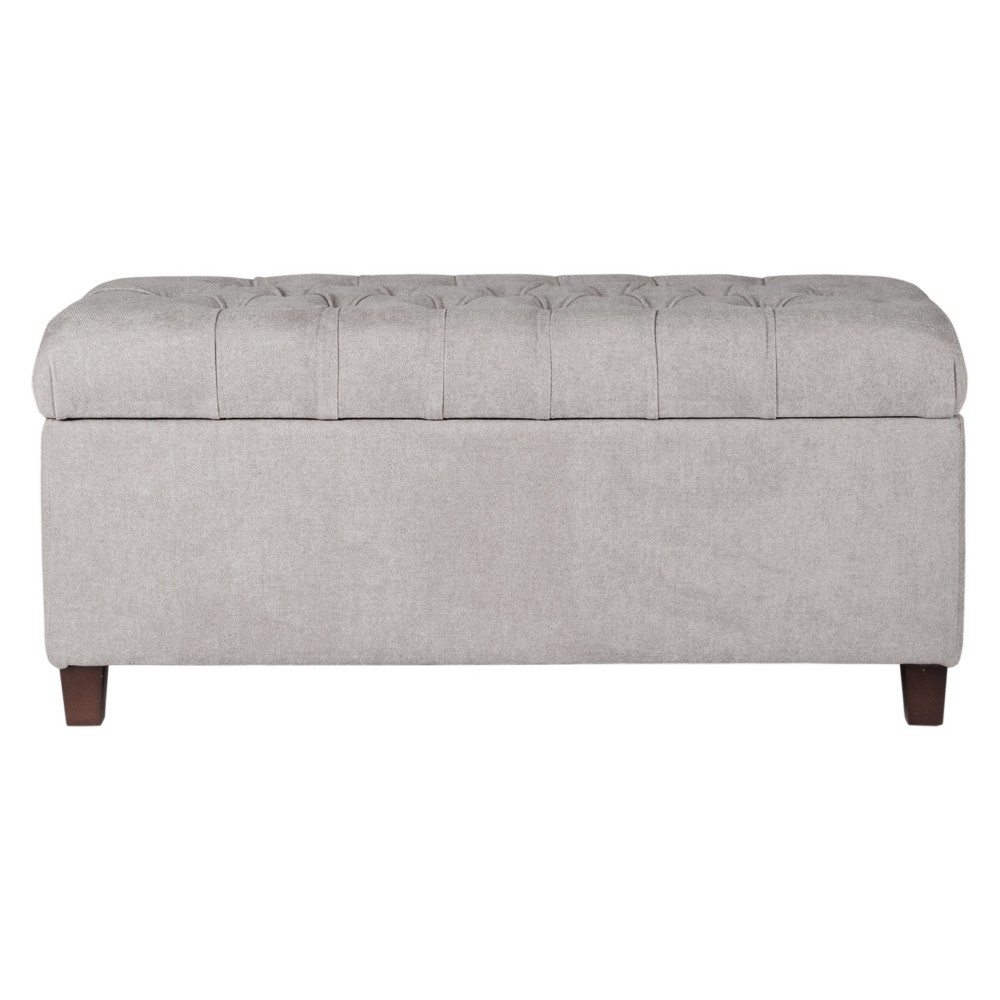 Image of Ainsley Button Tufted Storage Bench - Silver Ash - HomePop