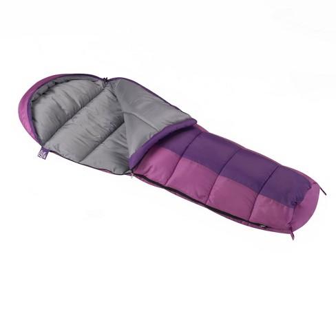 Wenzel Kids' Backyard 30 Degree Fahrenheit Mummy Sleeping Bag - Purple - image 1 of 4