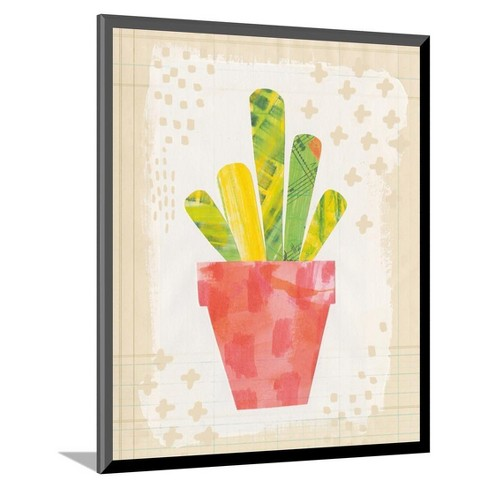 "Collage Cactus VI on Graph Paper by Melissa Averinos Mounted Print 11""x13"" - Art.Com - image 1 of 2"