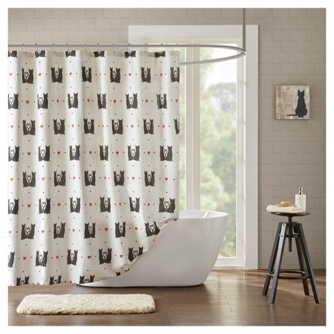 Animal Print Shower Curtain Natural