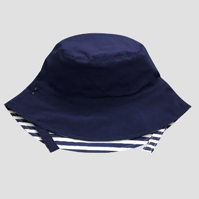 Baby Boys' Striped Bucket Sun Hat - Cat & Jack™ Blue 12-24M