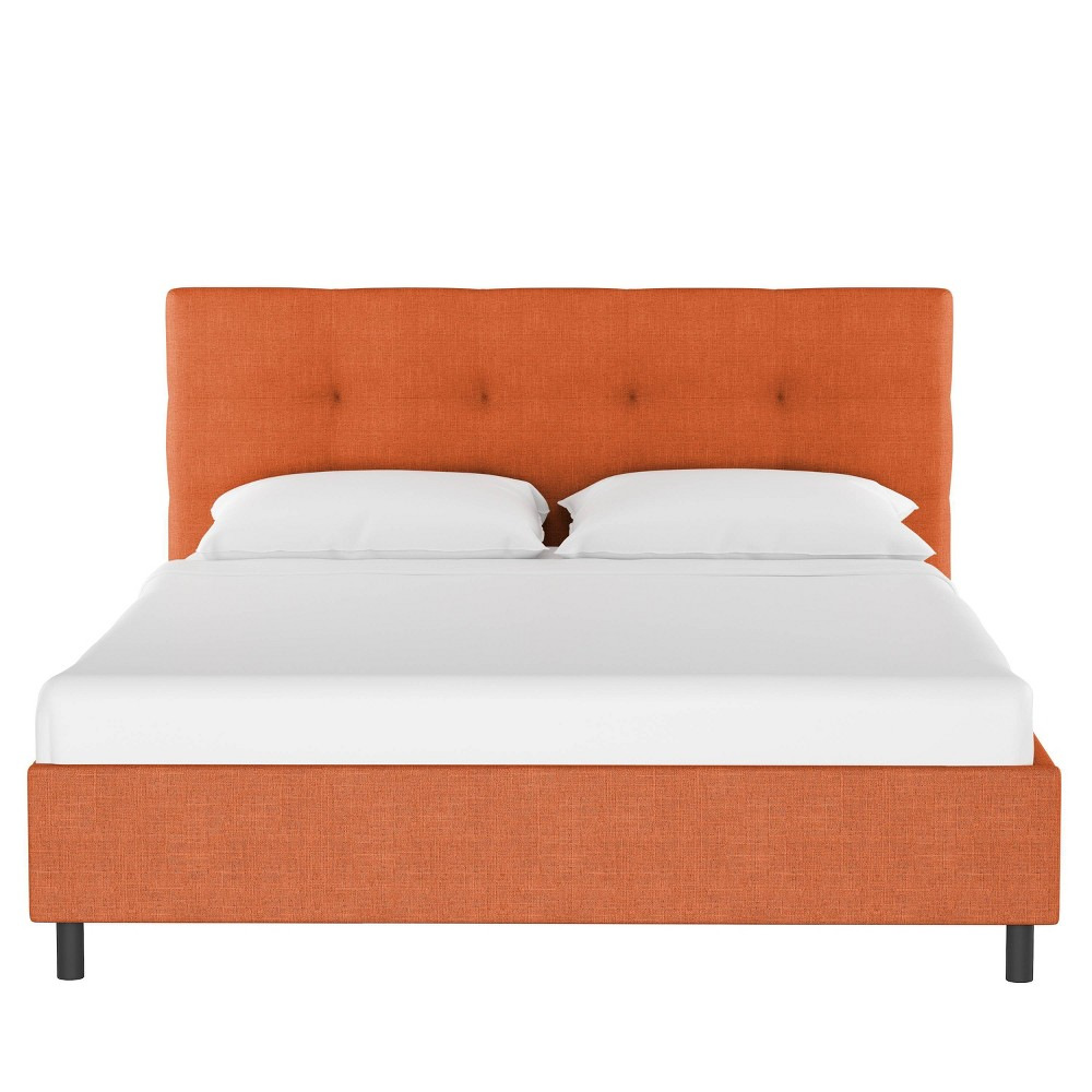 King Tufted Platform Bed in Zuma Atomic Orange - Project 62