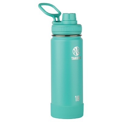 Takeya Actives 18oz Insulated Stainless Steel Water Bottle with Spout Lid - Teal