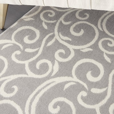 Nourison Grafix GRF19 Grey Indoor Area Rug : Target