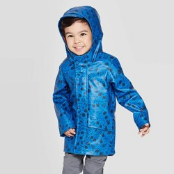 Toddler Boys' Fossil Print Rain Coat - Cat & Jack™ Blue