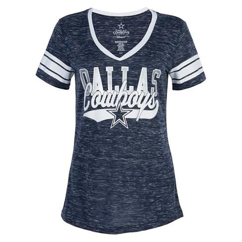 Dallas Cowboys Women s Short Sleeve V-Neck T-Shirt   Target d877f480c