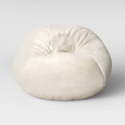 Fuzzy Bean Bag Chair Cream - Pillowfort™