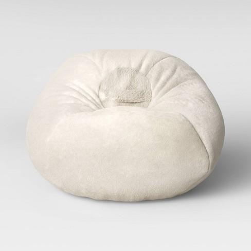 Amazing Fuzzy Bean Bag Chair Cream Pillowfort Caraccident5 Cool Chair Designs And Ideas Caraccident5Info