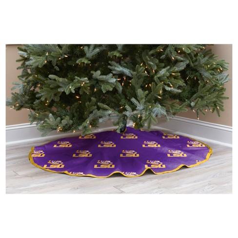 ncaa lsu tigers christmas tree skirt target