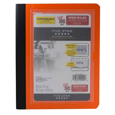 Five Star Customizable Cover Wide Ruled Composition Notebook