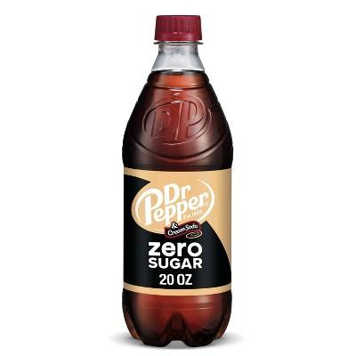 Dr Pepper Cream Zero Sugar - 20 fl oz Bottle