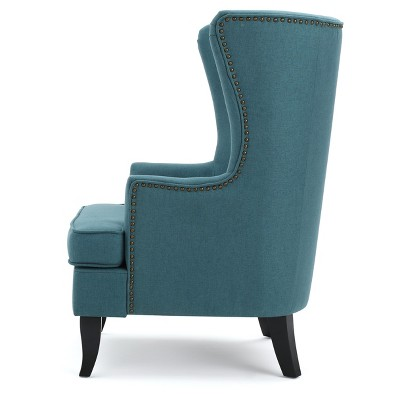 Merveilleux Canterbury Upholstered Wingback Chair   Teal   Christopher Knight Home :  Target