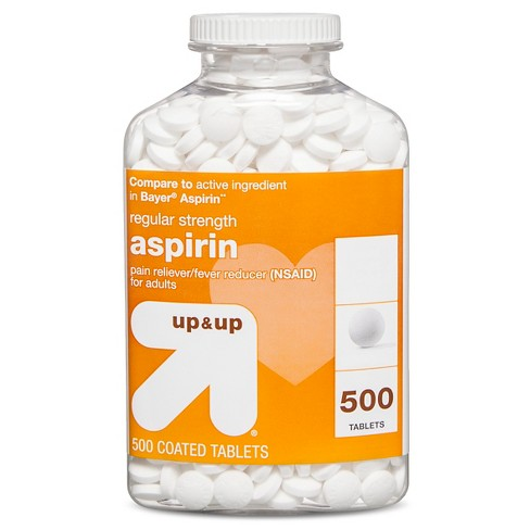 Aspirin (NSAID) Regular Strength Pain Reliever & Fever Reducer Coated Tablets - 500ct - Up&Up™ (Compare to active ingredient in Bayer Aspirin) - image 1 of 1