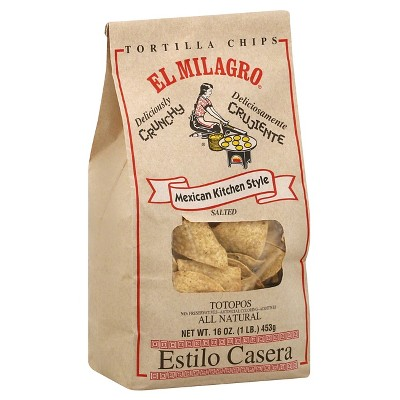 El Milagro Mexican Kitchen Style Tortilla Chips - 16oz