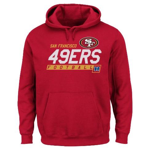 the latest 823ac b0bcb San Francisco 49ers Men's Big & Tall Team Pride Fleece Pullover Hoodie  Sweatshirt - 4XL Tall