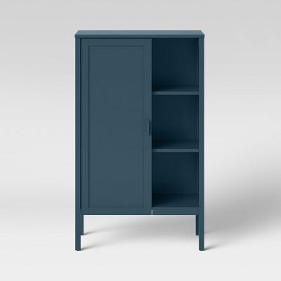 Newberry Accent Cabinet with Hidden Storage Blue - Threshold™