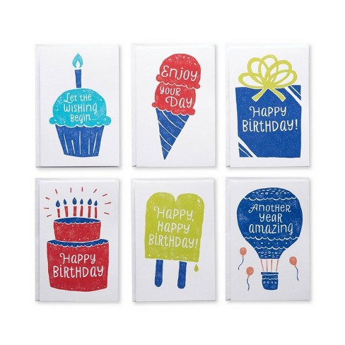 48ct Birthday Greeting Card Bundle With White Envelopes Target