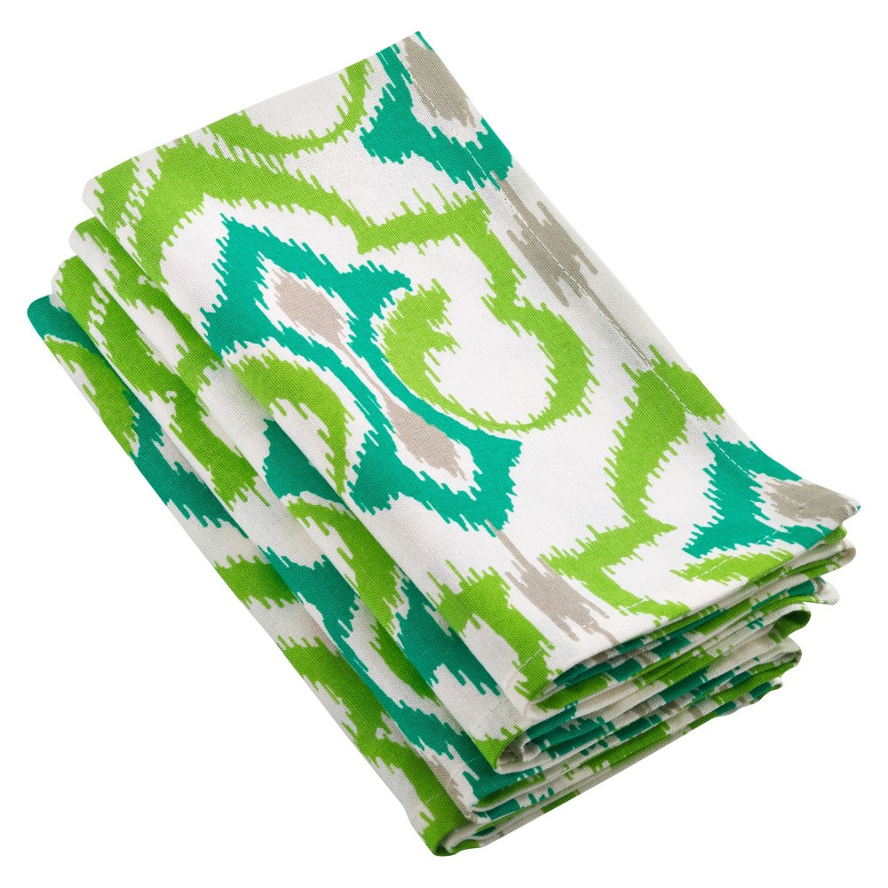 4pk Mauritius Ikat Design Napkin 20 - Saro Lifestyle, Multi-Colored