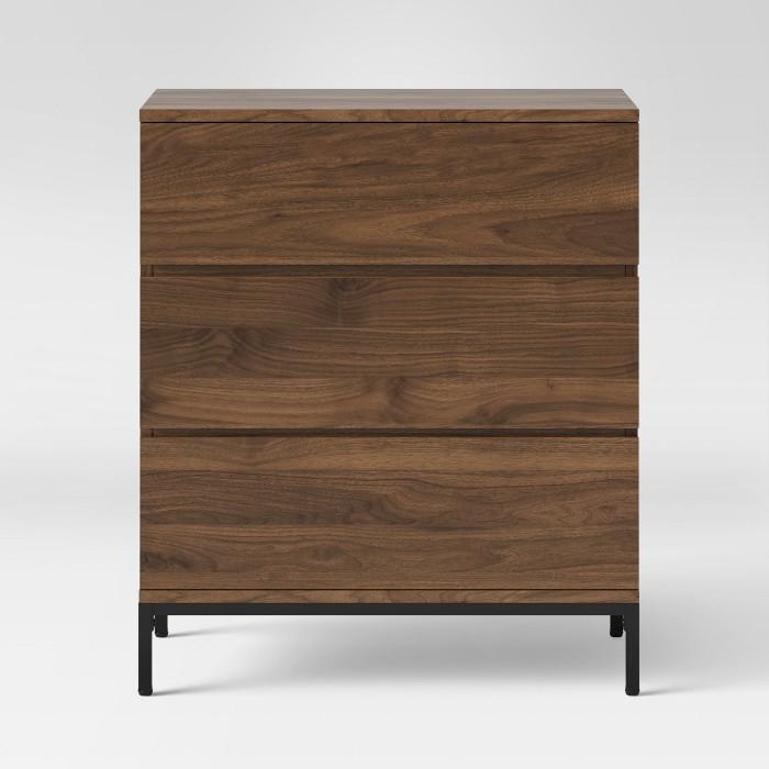 Loring 3 Drawer Dresser Walnut - Project 62™ - image 1 of 3
