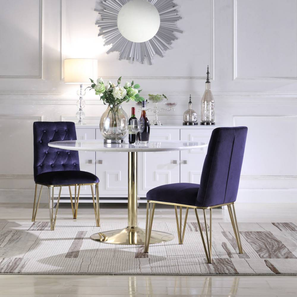 Set of 2 Freya Dining Chair Navy - Chic Home Design was $469.99 now $328.99 (30.0% off)