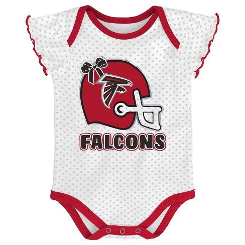 7aeee6a9 NFL Atlanta Falcons Baby Girls' Newest Fan 3pk Bodysuit Set - 18M
