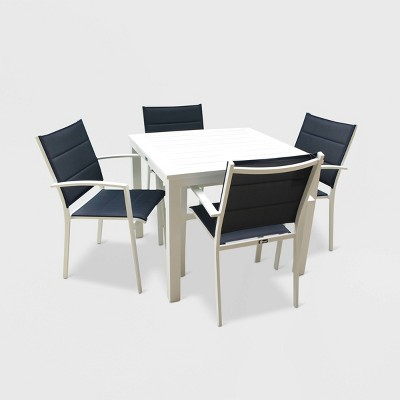 Skyline 5pc Aluminum Square Patio Dining Table Set - Courtyard Casual