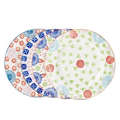 Salad Plate Ceramic Floral 8.5 x8.5  Set 4pc