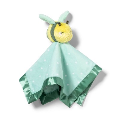 Small Security Blanket Honeybee - Cloud Island™ Green/Yellow