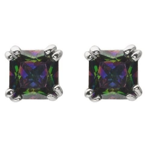 1 1/3 CT. T.W. Square Cut Cubic Zirconia Prong Set Stud Earring - (5MM) - image 1 of 3