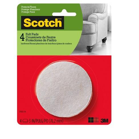 Scotch Felt Pads Round Oatmeal 3 In 4 Pk Target