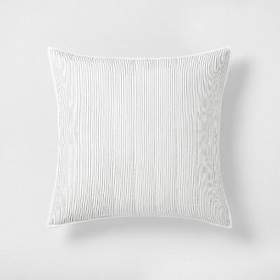 Microstripe Pillow Sham Sour Cream / Railroad Gray - Hearth & Hand™ with Magnolia
