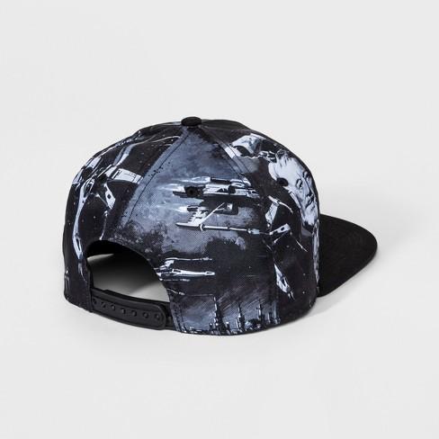 fa8781f61cb3d Men s Star Wars Print Baseball Hat - Black One Size   Target