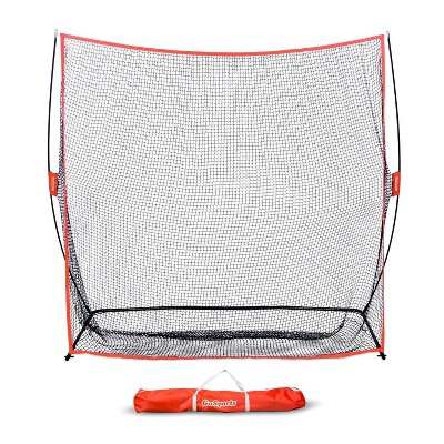 GoSports Golf Practice Hitting Net, 7 x 7 Foot Personal Driving Range with Ball Return Feature and Carrying Bag for Indoor or Outdoor Use