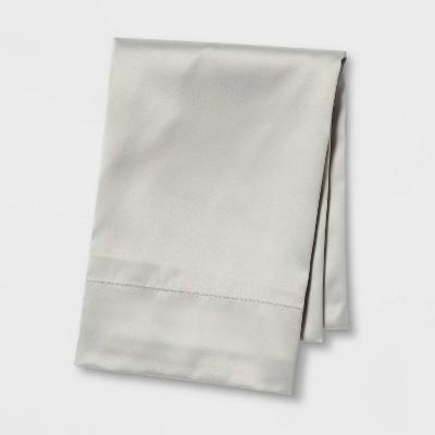 Standard Satin Solid Pillowcase Gray - Room Essentials™