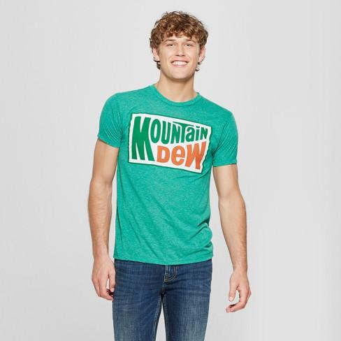 1f900075 Men's Mountain Dew Short Sleeve Graphic T-Shirt - Kelly Green 2XL ...