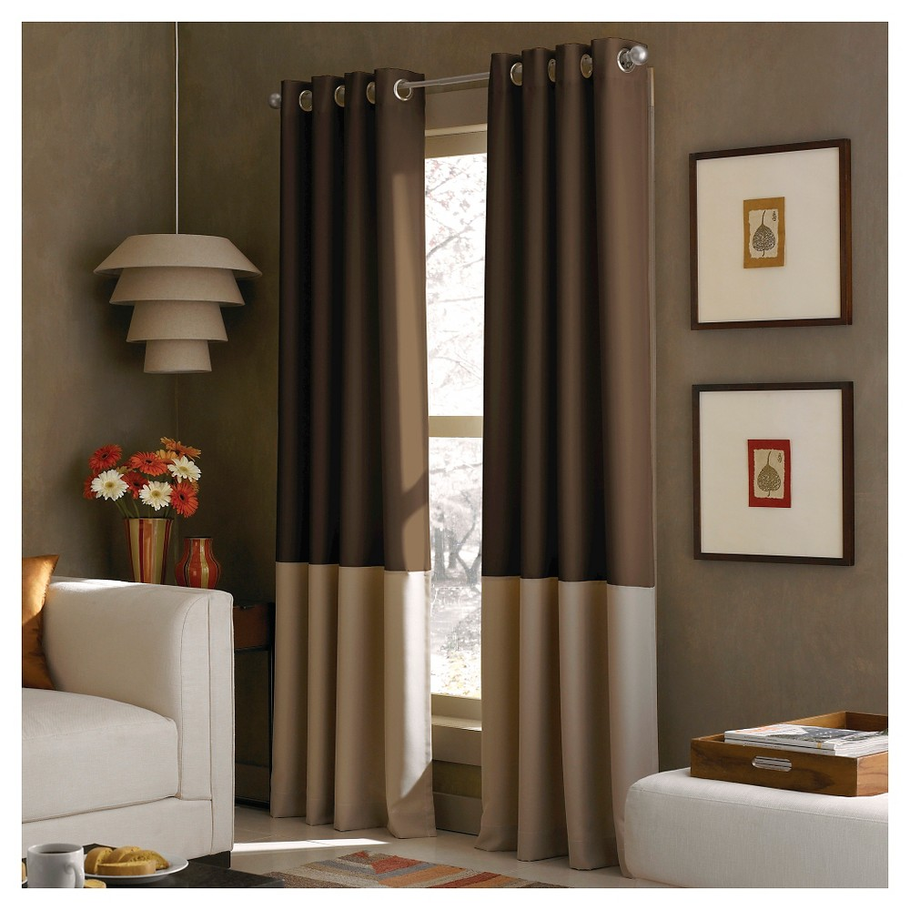 """Image of """"108""""""""x52"""""""" Kendall Lined Curtain Panel Chocolate - Curtainworks"""""""