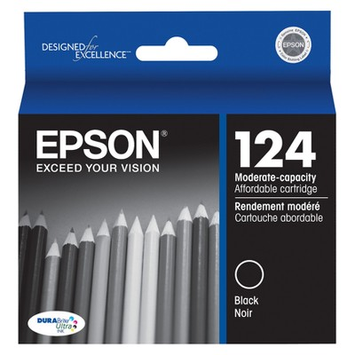 Epson 124 Single & 4pk Ink Cartridges - Black, Multicolor