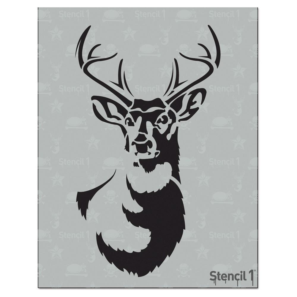 Stencil1 Antlered Deer - Stencil 8.5