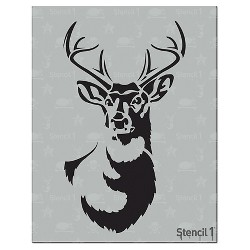 """8.5""""x11"""" Antlered Deer Stencil - Stencil1"""