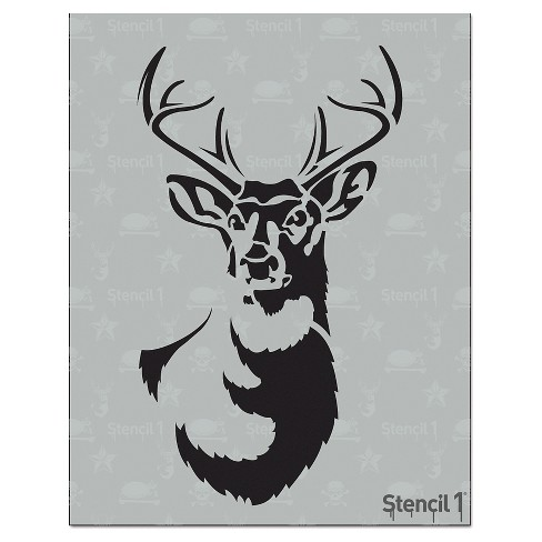 "8.5""x11"" Antlered Deer Stencil - Stencil1 - image 1 of 3"