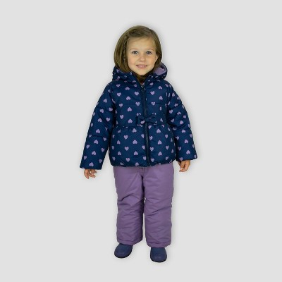 Toddler Girls' Heart Print Top and Bottom Set - Just One You® made by carter's Navy/Purple