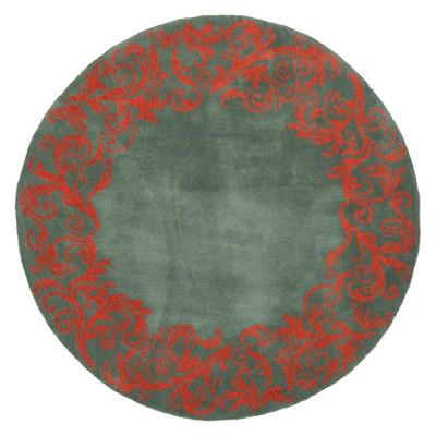 5' Swirl Round Area Rug Blue/Coral - Safavieh